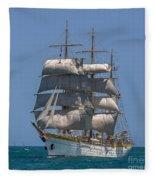 Tall Ship Mircea Fleece Blanket