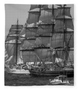 Tall Ship Stad Amsterdam Fleece Blanket