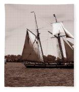 Tall Ships 3 Fleece Blanket