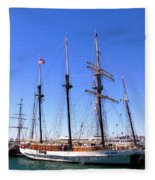 Tall Ships Big Bay Fleece Blanket