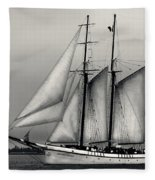 Tall Ships Sailing Boat Fleece Blanket