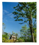 Tall Tree And Temple Fleece Blanket