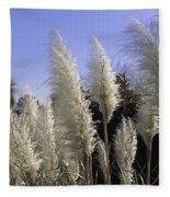 Tall Wispy Pampas Grass Fleece Blanket