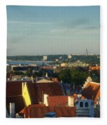 Tallinn Old Town 3 Fleece Blanket
