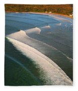 Tamarin Bay Surf Going Off Fleece Blanket