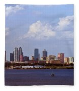 Tampa Cityscape Fleece Blanket