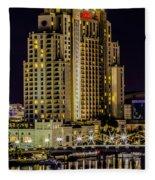 Tampa Marriott Waterside Hotel And Marina Fleece Blanket