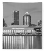 Tampa Panorama Fleece Blanket