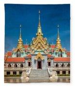 Tang Sai Temple Fleece Blanket