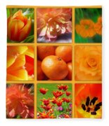 Tangerine Dream Window Fleece Blanket