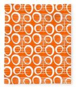 Tangerine Loop Fleece Blanket