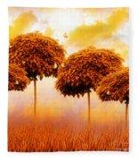 Tangerine Trees And Marmalade Skies Fleece Blanket