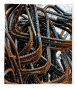 Tangled - Industrial Photography By Sharon Cummings Fleece Blanket