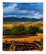 Tanque Verde Ranch Tucson Az Fleece Blanket