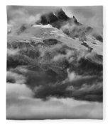 Tantalus Mountain Storms Fleece Blanket
