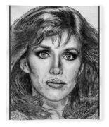 Tanya Roberts In 1981 Fleece Blanket