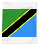 Tanzania Flag Fleece Blanket