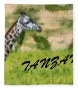 Tanzania Poster Fleece Blanket