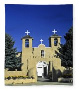 Taos Adobe Church Fleece Blanket