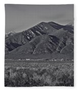 Taos In Black And White II Fleece Blanket
