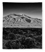Taos In Black And White X Fleece Blanket