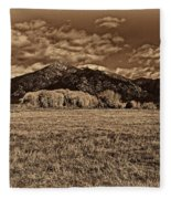 Taos Mountain In Platinum  Fleece Blanket