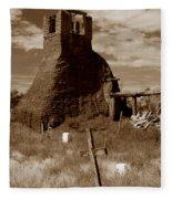 Taos Pueblo Graveyard Fleece Blanket