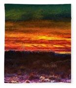 Taos Sunset Lx - Homage Turner Fleece Blanket