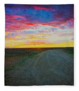 Taos Sunset On Rice Paper Fleece Blanket