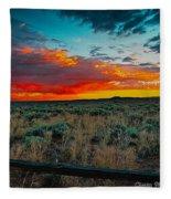 Taos Sunset Xi Fleece Blanket