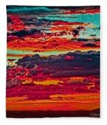 Taos Sunset Xix Fleece Blanket