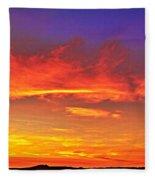Taos Sunset Xxxx Fleece Blanket