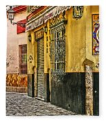 Tapas Bar In Sevilla Spain Fleece Blanket