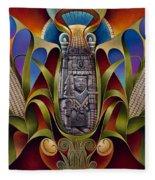 Tapestry Of Gods - Chicomecoatl Fleece Blanket