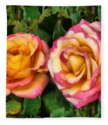 Tapestry - Roses And Thorns Fleece Blanket