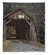 Tappan Covered Bridge Fleece Blanket