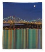 Tappan Zee Bridge Reflections Fleece Blanket