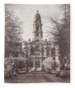 Tarrant County Courthouse Fleece Blanket
