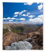 Tasman Mountains Of Kahurangi Np In New Zealand Fleece Blanket