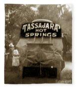 Tassajara Hot Springs Stage Monterey Co. California Circa 1910 Fleece Blanket
