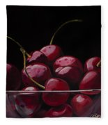 Tasty Cherries Fleece Blanket
