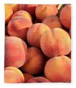 Tasty Peaches Fleece Blanket