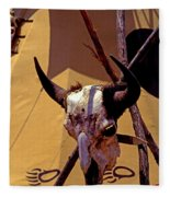 Tatanka Skull Fleece Blanket