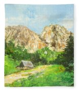 Tatry Giewont - Poland Fleece Blanket