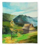 Tatry Mountains Fleece Blanket