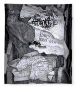 Tattered And Torn Fleece Blanket