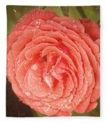 Tattered Rose Fleece Blanket