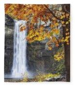 Taughannock Falls And Maple Fleece Blanket