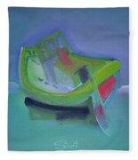 Tavira Fishing Boat Abandoned Fleece Blanket