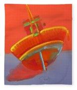 Tavira Fishing Boat Fleece Blanket